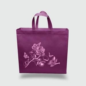 Эко сумка XXL 420*350*120 Орхидея