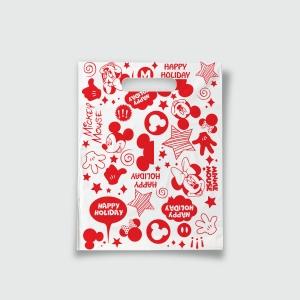 Пакет с прорезной ручкой 15*20 Минни красный