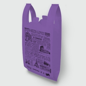 "Пакет типа ""майка"" 39*58 Газета супер фиолетовый"