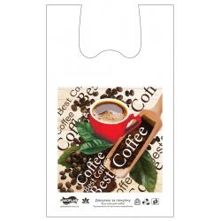 "Пакет типа ""майка"" 30х52 Кофе best"