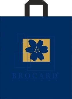 Пакет с петлевой ручкой 40х43 Брокард синий матовый
