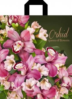 Пакет с петлевой ручкой 30х35 Орхидея