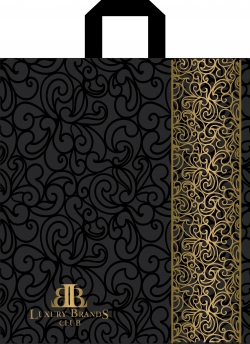 Пакет с петлевой ручкой 40х43 Lux бренд матовый