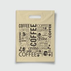Пакет с прорезной ручкой 30*40 Кофе беж