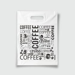 Пакет с прорезной ручкой 30*40 Кофе белый