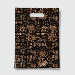 Пакет с прорезной ручкой 40*50 Кофе черный