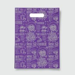 Пакет с прорезной ручкой 40*50 Кофе фиолет