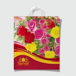 Пакет с петлевой ручкой 40х42 LUX Розы