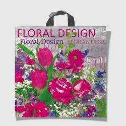 Пакеты с петлевой ручкой 44х44 Цветы