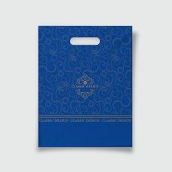 Пакет с прорезной ручкой 30*37 Классик синий