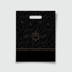 Пакет с прорезной ручкой 30*37 Классик черный