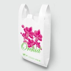 "Пакет типа ""майка"" 30х55 Орхидея белая Люкс"