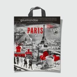 Пакет с петлевой ручкой 40х42 Бонжур Париж