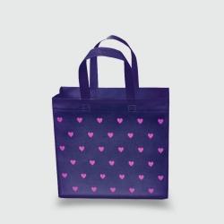 Эко сумка mini 320х270х100 Сердечки